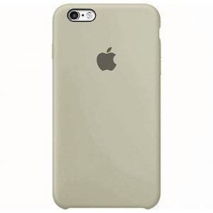 Case Capinha Cinza para iPhone 6 Plus e 6s Plus de Silicone - 3UQOXCMRJ