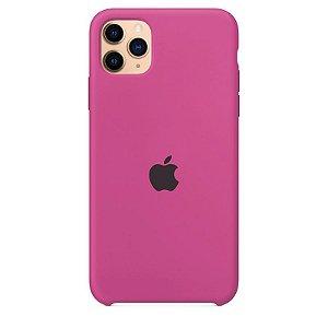 Case Capinha Rosa Hibisco para iPhone 11 Pro de Silicone - ERY1XYKXG