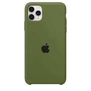 Case Capinha Verde Militar para iPhone 11 Pro de Silicone - RQIAEGJ59