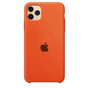 Case Capinha Laranja para iPhone 11 Pro Max de Silicone - JSJ7PFCN3