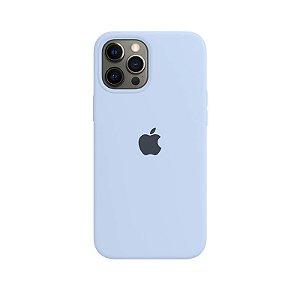 Case Capinha Azul Claro para iPhone 12 Pro Max de Silicone - X09TOX440