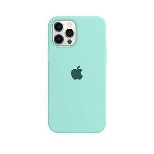 Case Capinha Azul Tiffany para iPhone 12 Pro Max de Silicone - GO1INLLGH