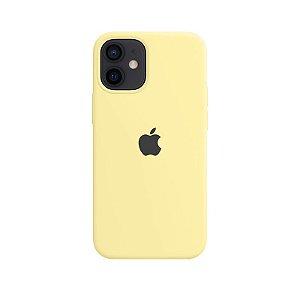 Case Capinha Amarelo Claro para iPhone 12 Mini de Silicone - TEAO9Q8ET