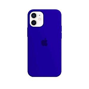 Case Capinha Azul Caneta para iPhone 12 Mini de Silicone - 8BCAMH5SM