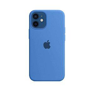Case Capinha Azul Royal para iPhone 12 Mini de Silicone - WHU0DGEVK