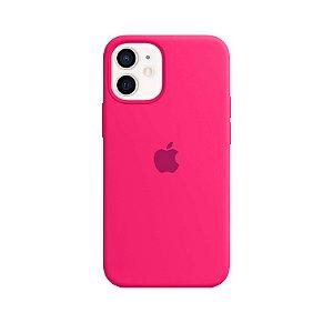 Case Capinha Rosa Pink para iPhone 12 Mini de Silicone - OJNV1VNVJ