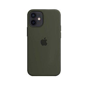 Case Capinha Verde Militar para iPhone 12 Mini de Silicone - ZG2WOUMPZ
