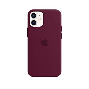 Case Capinha Vermelho Bordô para iPhone 12 Mini de Silicone - 40SPW83M6