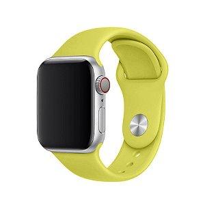 Pulseira Amarelo Limão para Apple Watch Serie (1/2/3/4/5/6/SE) de Silicone - NT6O3JDMA