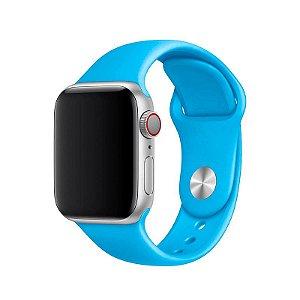 Pulseira Azul Piscina para Apple Watch Serie (1/2/3/4/5/6/SE) de Silicone - 0WMWHQGKV