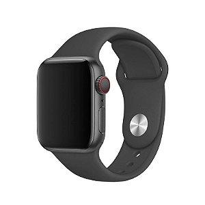 Pulseira Cinza Escuro para Apple Watch Serie (1/2/3/4/5/6/SE) de Silicone - F2H4PS0PE
