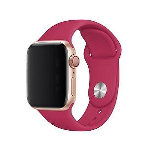 Pulseira Rosa Hibisco para Apple Watch Serie (1/2/3/4/5/6/SE) de Silicone - N48NWHMCJ