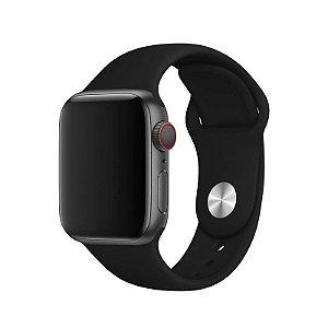 Pulseira Preta para Apple Watch Serie (1/2/3/4/5/6/SE) de Silicone - 57GNJ1KVW