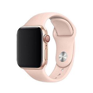 Pulseira Rosa Areia para Apple Watch Serie (1/2/3/4/5/6/SE) de Silicone - JVUSN4545