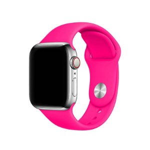Pulseira Rosa Pink para Apple Watch Serie (1/2/3/4/5/6/SE) de Silicone - 8F4GL5D7H