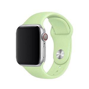 Pulseira Verde Menta para Apple Watch Serie (1/2/3/4/5/6/SE) de Silicone - TXE71ZS9B