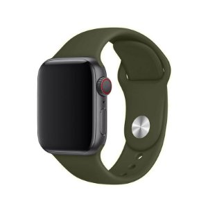Pulseira Verde Militar para Apple Watch Serie (1/2/3/4/5/6/SE) de Silicone - FS1E6IX3R