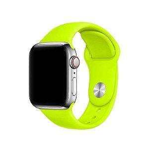 Pulseira Verde Neon para Apple Watch Serie (1/2/3/4/5/6/SE) de Silicone - 1PPSVU8X1