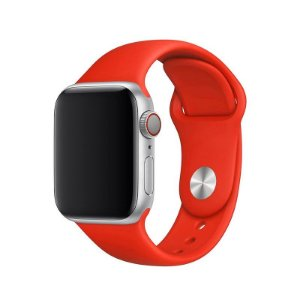 Pulseira Vermelha para Apple Watch Serie (1/2/3/4/5/6/SE) de Silicone - KR7BS74HB