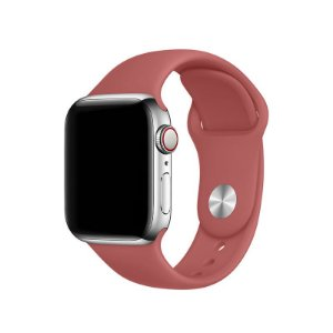 Pulseira Vermelho Claro para Apple Watch Serie (1/2/3/4/5/6/SE) de Silicone - 8KDOFBPOM