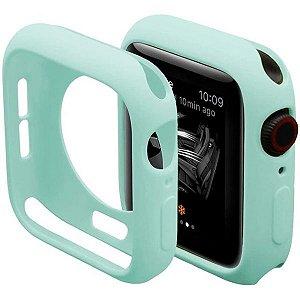 Bumper Case Azul Tiffany para Apple Watch Series (1/2/3/4/5/6/SE) de Silicone - RFHZJL7S4