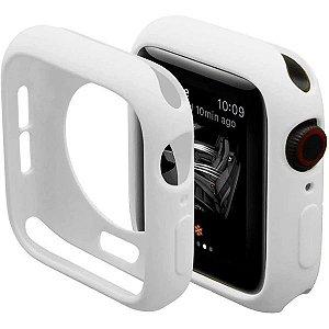 Bumper Case Branca para Apple Watch Series (1/2/3/4/5/6/SE) de Silicone - GHZCONNZO