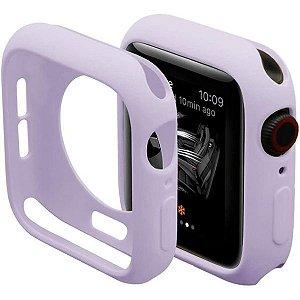 Bumper Case Lilás para Apple Watch Series (1/2/3/4/5/6/SE) de Silicone - 9DZT0EVJS