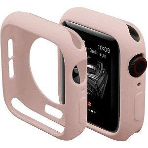 Bumper Case Rosa para Apple Watch Series (1/2/3/4/5/6/SE) de Silicone - E9Z40Z5WP