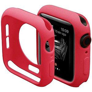 Bumper Case Vermelha para Apple Watch Series (1/2/3/4/5/6/SE) de Silicone - 8HPT5B9FU