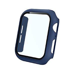 Bumper Case Com Película Azul Escuro para Apple Watch Series (1/2/3/4/5/6/SE) de Silicone - Q9UFHH850