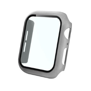 Bumper Case Com Película Prata para Apple Watch Series (1/2/3/4/5/6/SE) de Silicone - ITBSXH4JO