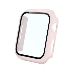 Bumper Case Com Película Rosa Areia para Apple Watch Series (1/2/3/4/5/6/SE) de Silicone - GQJ9HSEDN