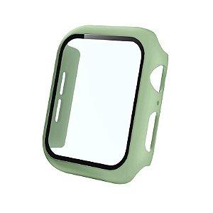 Bumper Case Com Película Verde Pistache para Apple Watch Series (1/2/3/4/5/6/SE) de Silicone - 9OC2E4SJG