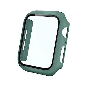 Bumper Case Com Película Verde Pacífico para Apple Watch Series (1/2/3/4/5/6/SE) de Silicone - PNO2IUFAF