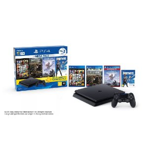 PLAYSTATION 4 SLIM 1TB C/ GTA, DG, HZD