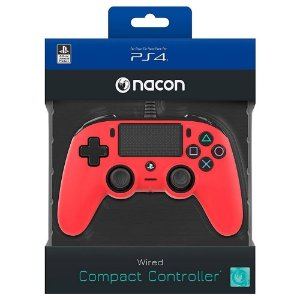 CONTROLE NACON WIRED COMPACT CONTROLLER PS4 RED