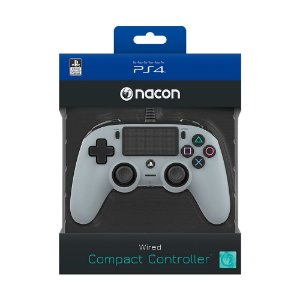 CONTROLE NACON WIRED COMPACT CONTROLLER PS4 GRAY