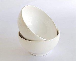 Bowl de Porcelana Branco 500 ml - Conjunto 2 peças