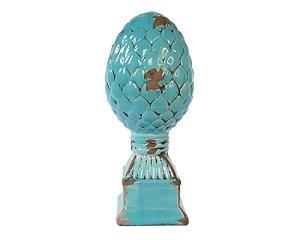 Pinha Porcelana Gigante Azul Turquesa