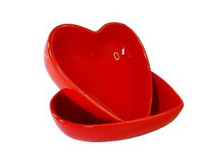Bowl Coração de Porcelana Vermelho - 2 peças