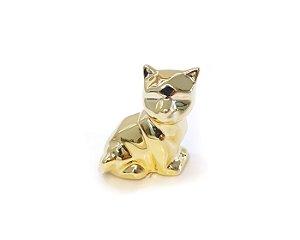Cachorro Decorativo Porcelana Metálico