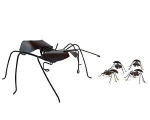 Conjunto de Formigas Decorativas em Ferro - 5 peças