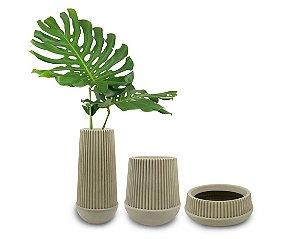 Trio Vasos Fuji Polietileno - 3 peças