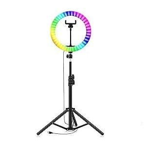 Kit Iluminador Ring Light Led Rgb Colorido