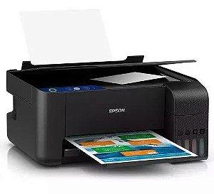 Impressora a cor multifuncional Epson EcoTank L3110 110V preta