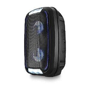 Caixa de Som Luz de Led Controle Remoto Mini Torre Party TWS Bluetooth Radio FM 200W RMS - SP336 Multilaser