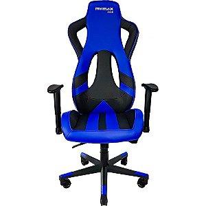 Cadeira Gamer MX11 Giratoria Preto/Azul - Mymax