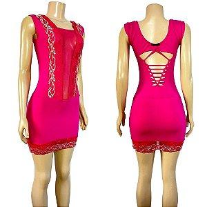 Dança do Ventre Vestido Pink de Aula em Malha - Pronta entrega