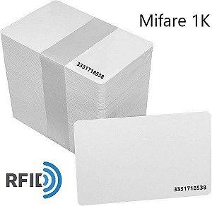 Cartão de Proximidade RFID Mifare 1K 13,56Mhz Pct 100 Unidades (Com Serial)