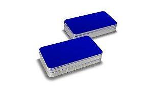Cartão Pvc Azul Pacote com 100UN 54x86mm Espessura 0,76mm